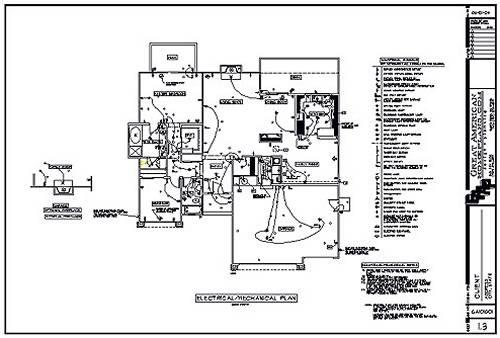 Blueprint Electrical Plans Plan Wall