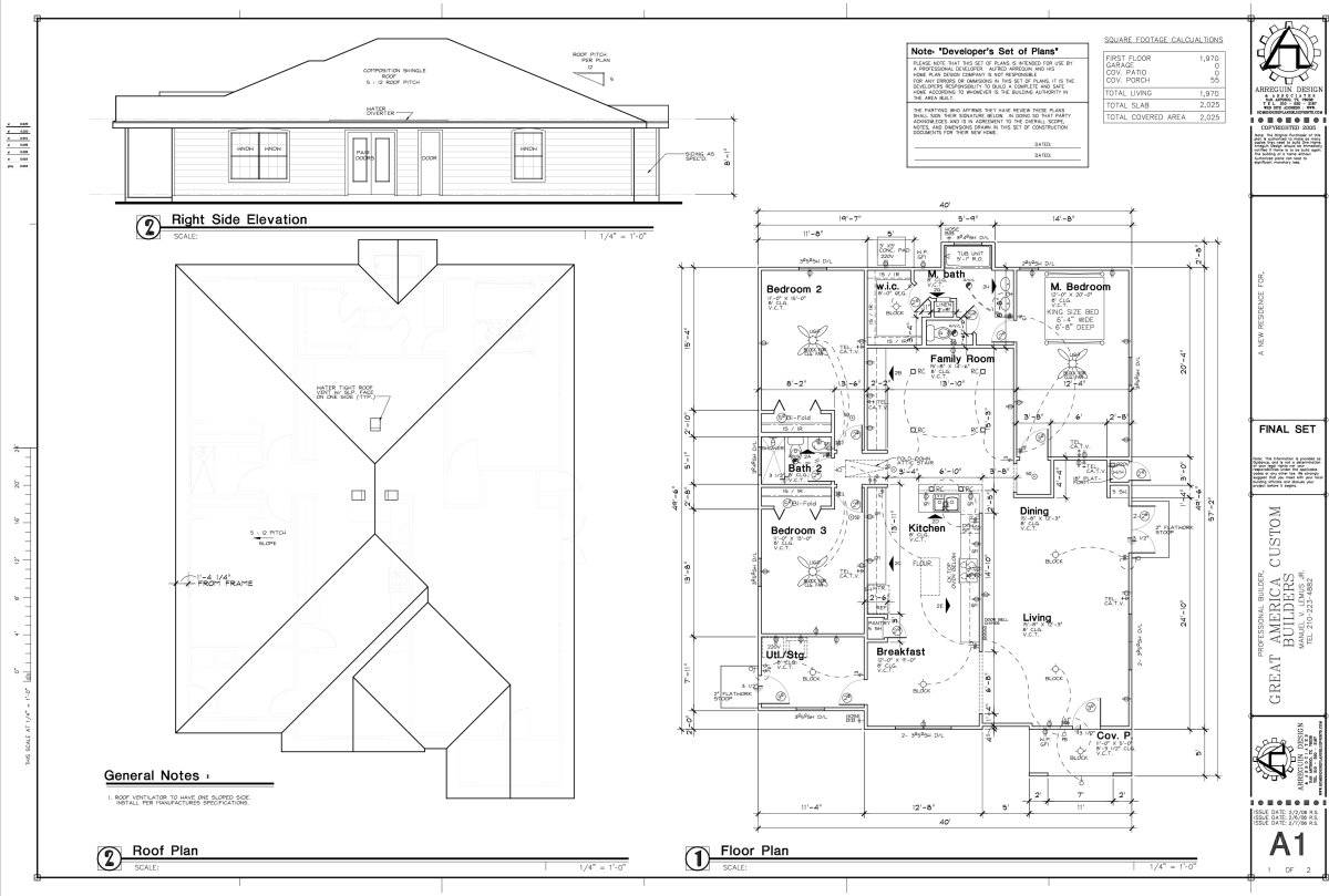 Blueprint House Sample Floor Plan