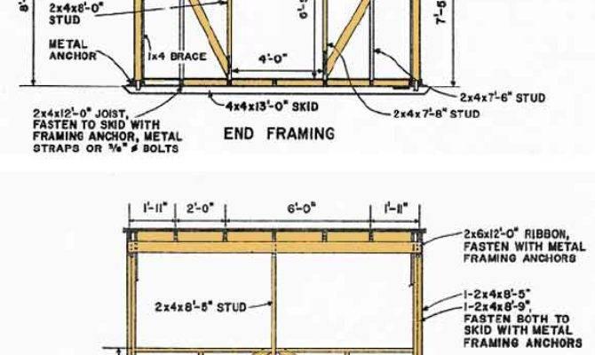 Blueprints Building Shed