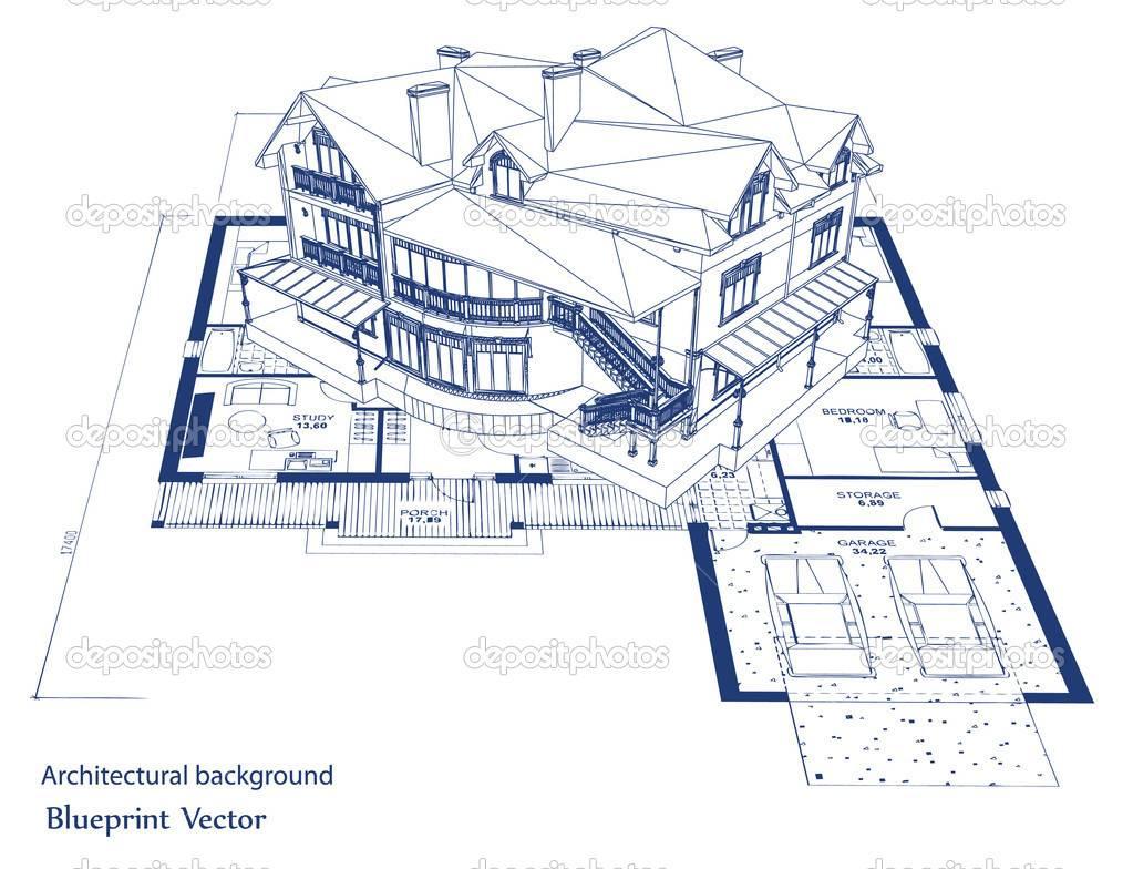 Blueprints Further Blue House Custom Home
