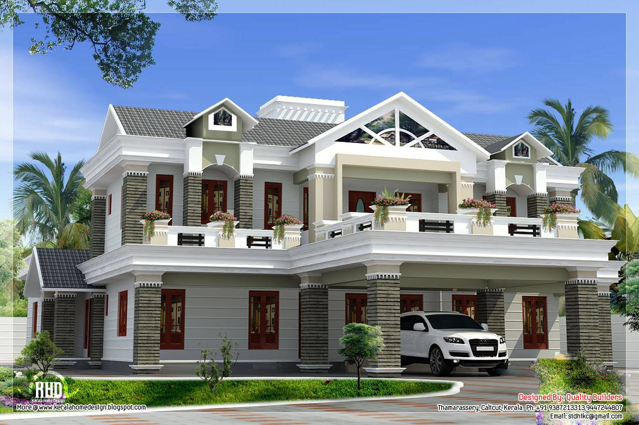 Box Type Luxury Home Design Kerala Floor Plans