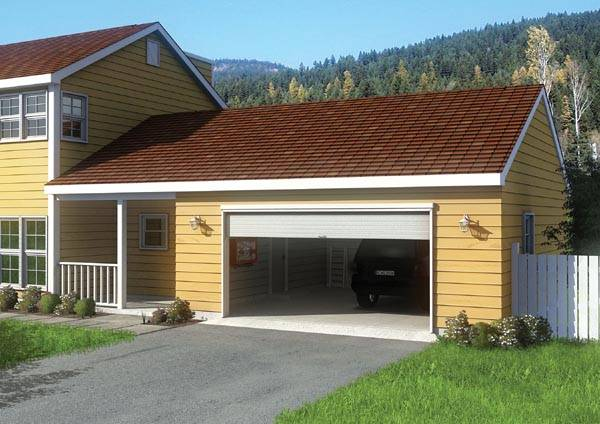 Breezeway Garage House Plan Design