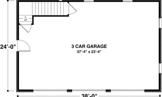 Brick Car Garage Storage Above Cad