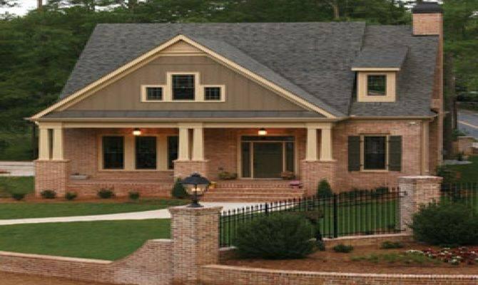 Brick Craftsman Home Plans Deco