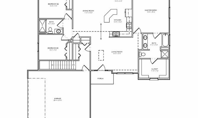 Brick Ranch House Plan Bedroom Basement