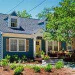 Bright Blue Cape Cod Home Has Curb Appeal House