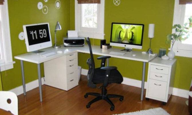 Briliant Decoration Excellent Green Home Office Decorating