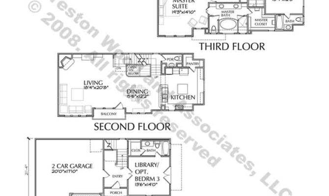 Brownstone House Plan Plans Home Floor