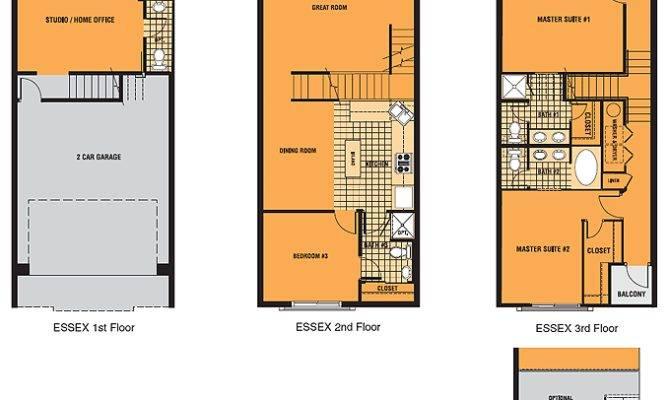 Brownstone Square Contemporary Row Homes Single