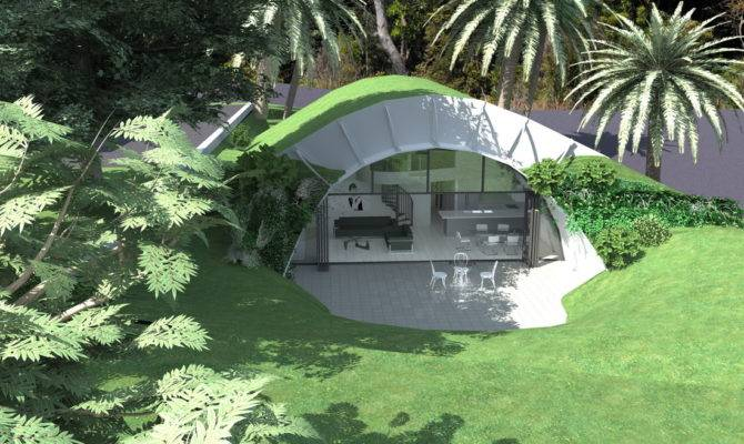 Bryan Architects Earth Sheltered House Sheltering