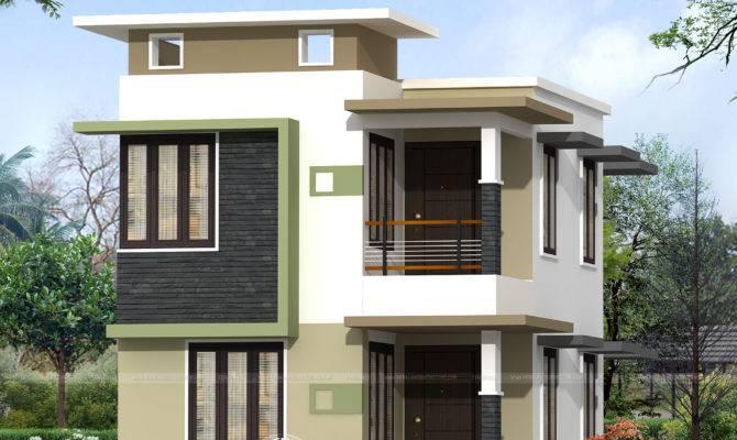 Budget Flat Roof Home Kerala Design