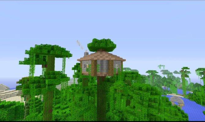 Build Easy Jungle Survival House Minecraft Youtube