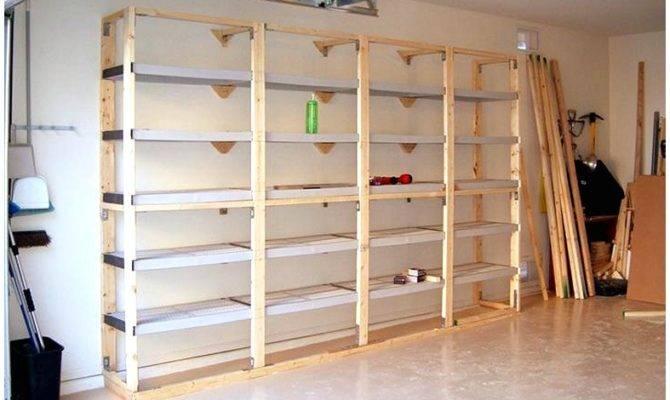Build Garage Storage Shelves Plans