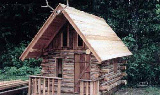 Build Log Cabin Playhouse Diy Projects