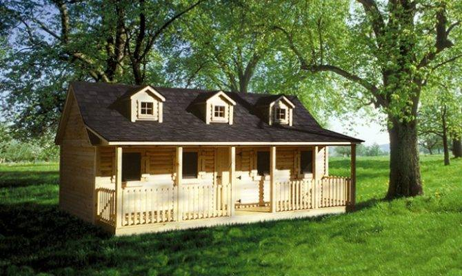 Build Log Cabin Playhouse Plans