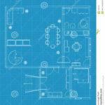 Building Blueprints Vector Drawing