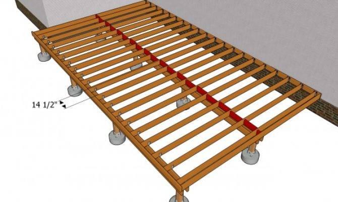 Building Deck Frame Myoutdoorplans Woodworking
