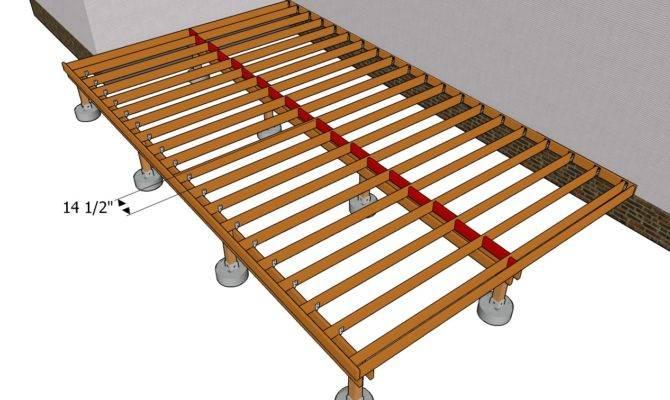 Building Deck Frame Outdoor Plans Diy Shed