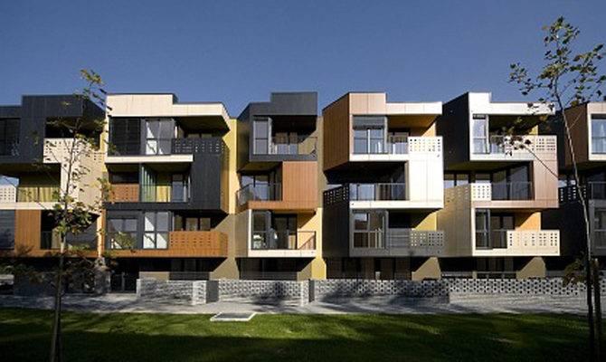 Building Design Model Tetris Exterior Apartment