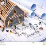 Building House Blueprints Worker