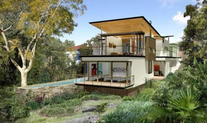Building Sloping Block Arcadia Homes Qld