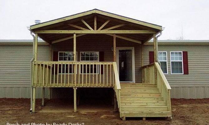 Building Small Porch Mobile Home Design Homes