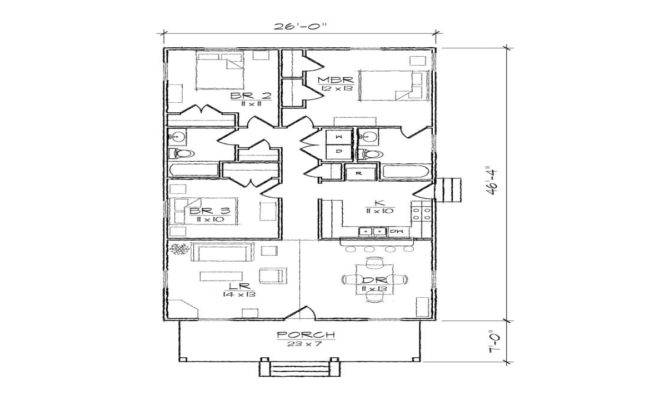 Bungalow Cottage Narrow Lot Plan