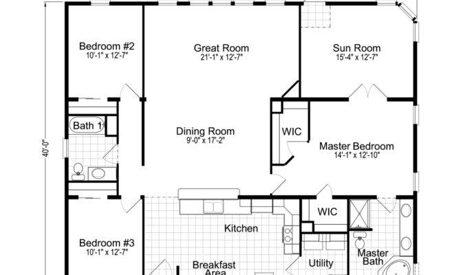 Bungalow Open Concept Floor Plans Design