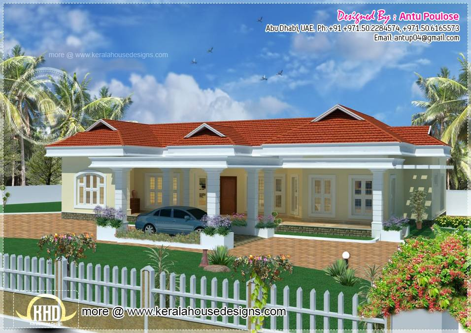 Bungalow Square Feet Kerala Home Design Floor Plans
