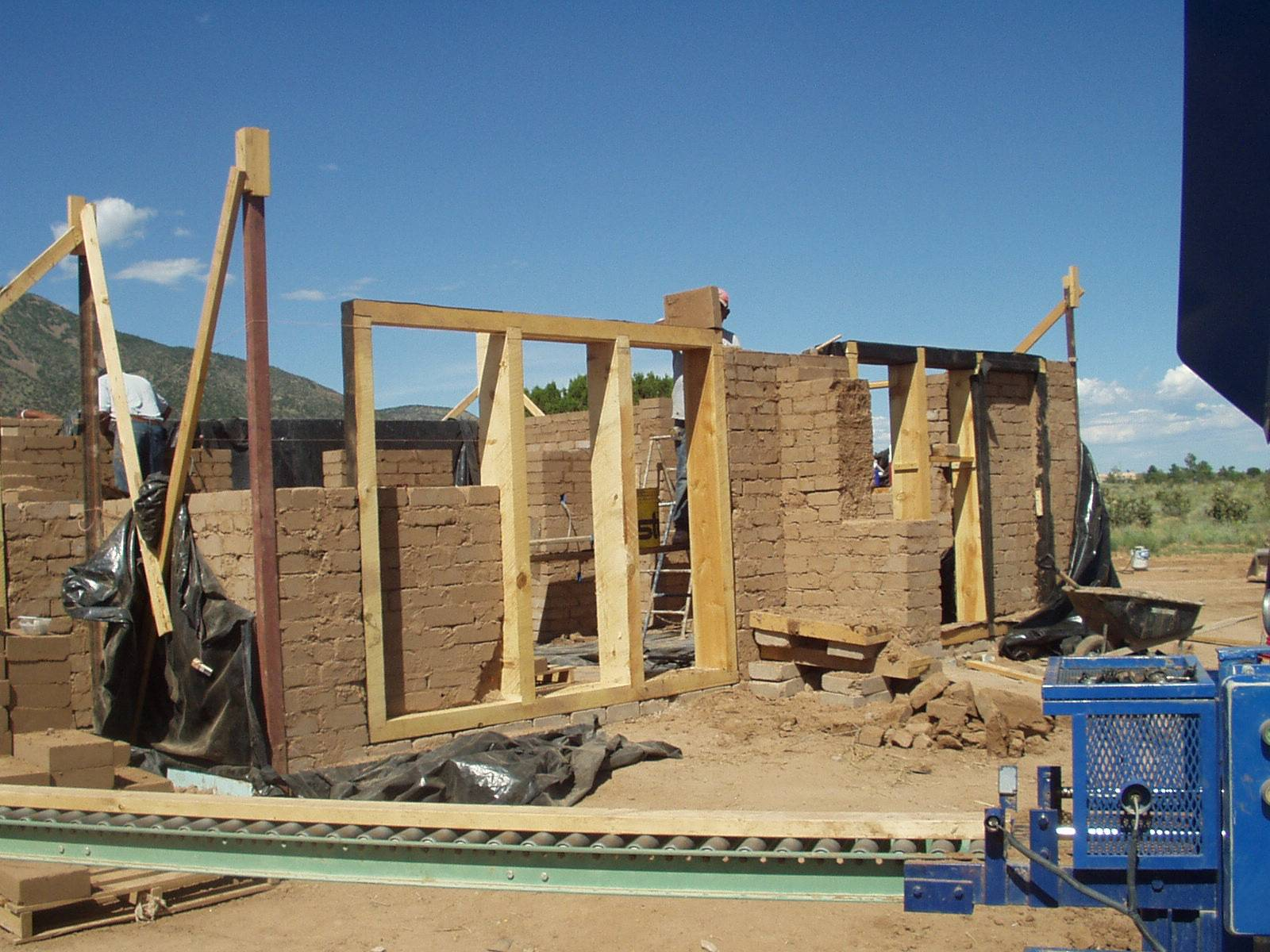 Buttresses Required New Mexico Adobe Building Code