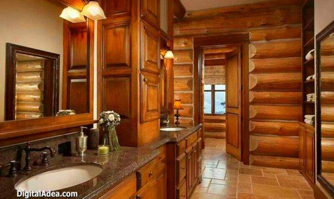 Cabin Bathroom Home Design Ideas