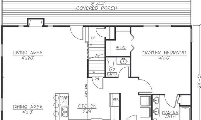 Cabin Floor Plans Loft Inspiration Building