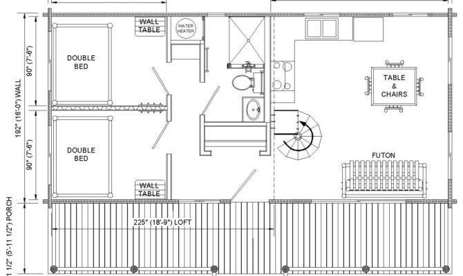 Cabin Floor Plans Loft