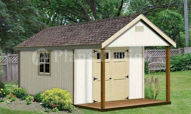 Cabin Guest House Building Covered Porch Shed