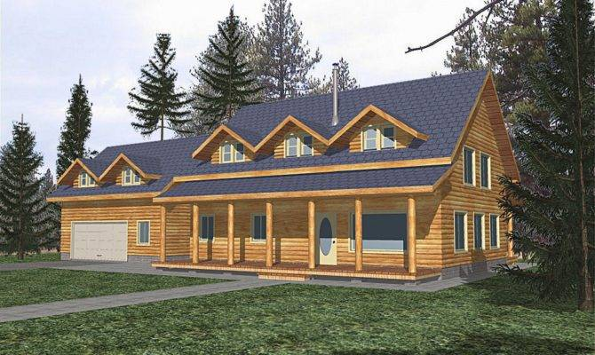 Cabin Home Floor Plans Garage Second Sun