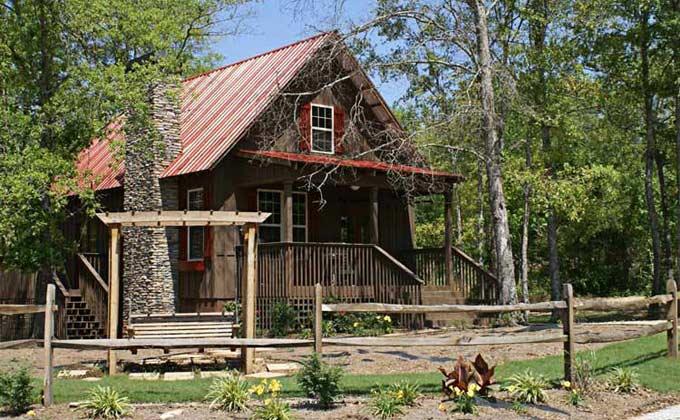 Cabin House Plan Loft Wrap Around Porch
