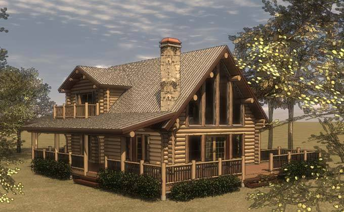 Cabin House Plans Loft Woodplans