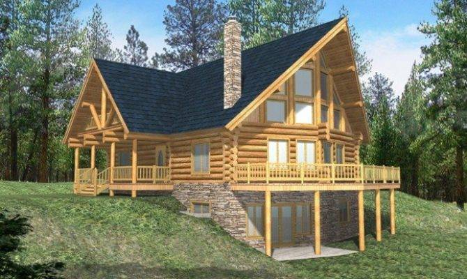 Cabin House Plans Small Mountain Lakefront