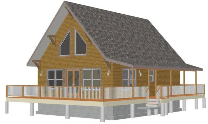 Cabin House Plans Well Loft Blueprints Small Cottage