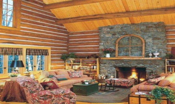 Cabin Inspired Bedrooms Log Home Decorating Ideas