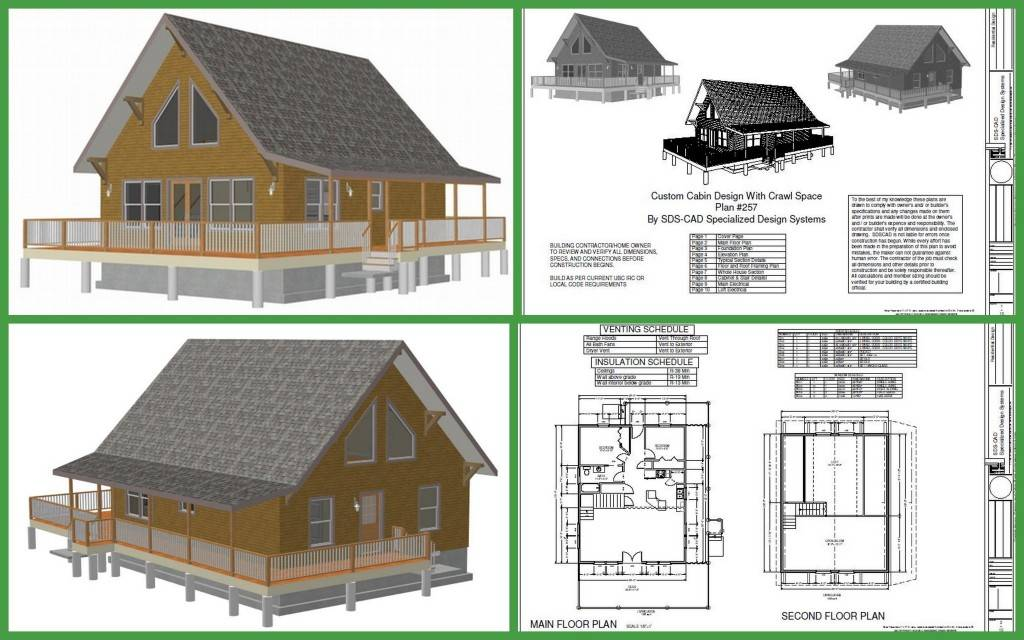 Cabin Plan Custom Design Crawl Space