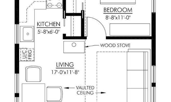 Cabin Plans Guest Floor Plan House Small Suite