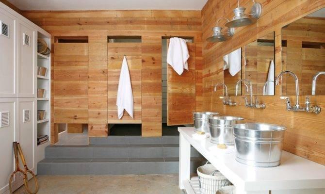 Cabin Style Boys Bathroom Country Atlanta