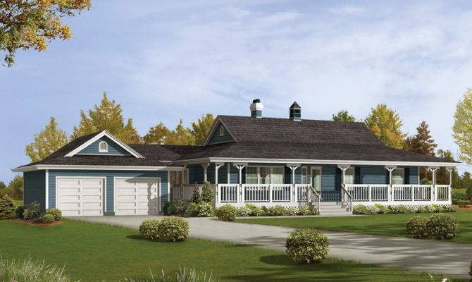 Caldean Country Ranch Home Plan House Plans More
