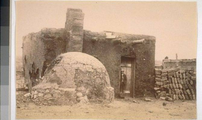 Calisphere Mexican Adobe House Oven