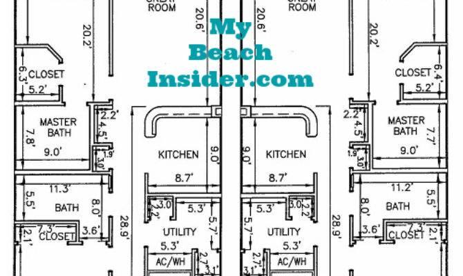 Calypso Towers Condo Floor Plans Panama City Beach Florida