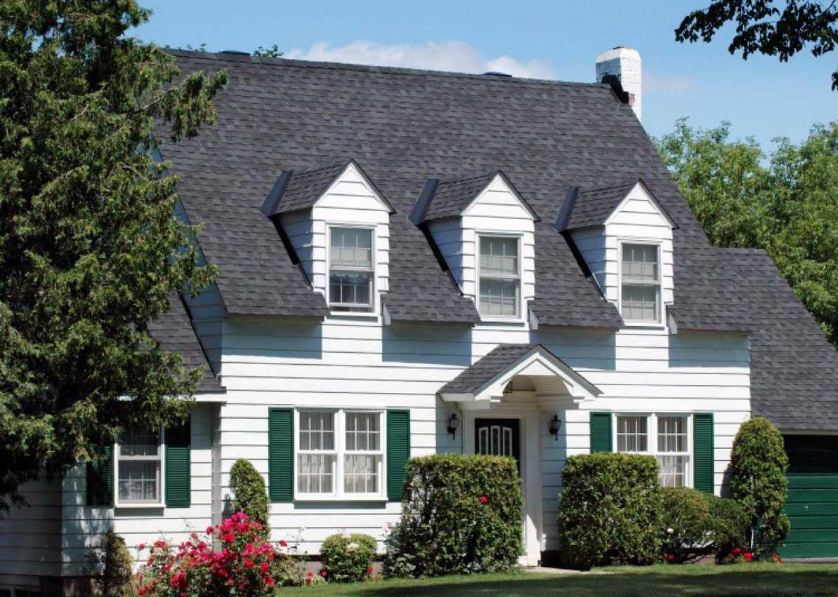 Cape Cod Architectural Style White Wall Paint Color