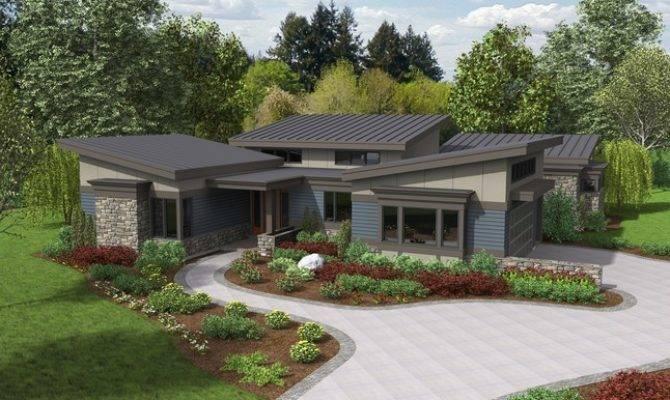 Caprica Contemporary Ranch House Plan