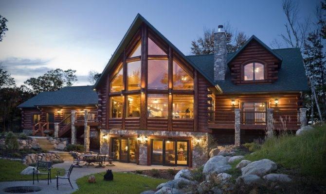 Captivating Contemporary Log Home Plans House Unique