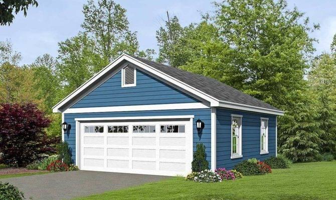 Car Detached Garage Plan Over Sized Door